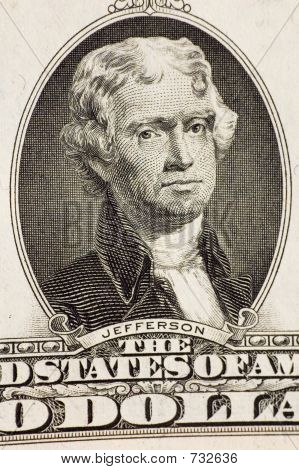 Jefferson on a $2 bill