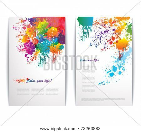 Colorful splash banners. Positive backgrounds for business, fashion, party and more.