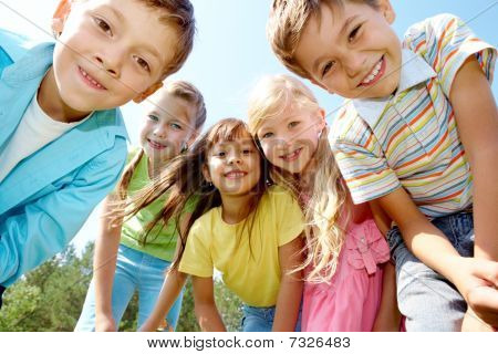 Five Happy Kids