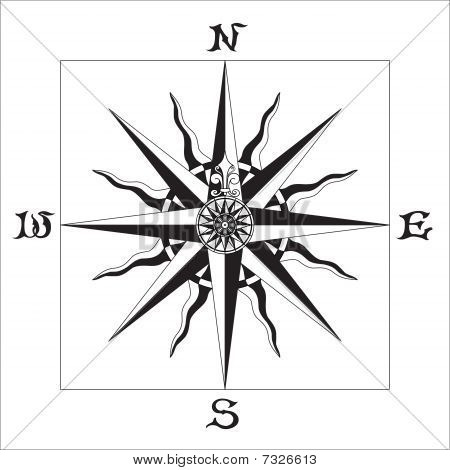 Wind Rose ne & blanco