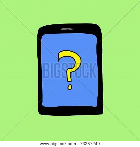 Doodle pad with question mark