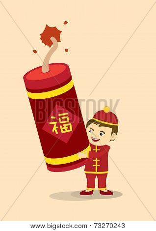 Celebrate Chinese New Year With Giant Fire Cracker