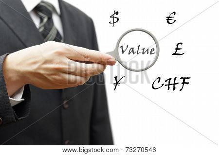 Concept Of Value Money With Multiple Currencies