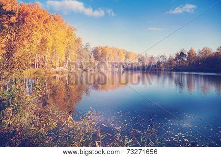 Autumn in Siberia, beautiful landscape