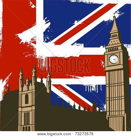 Grunge British Background