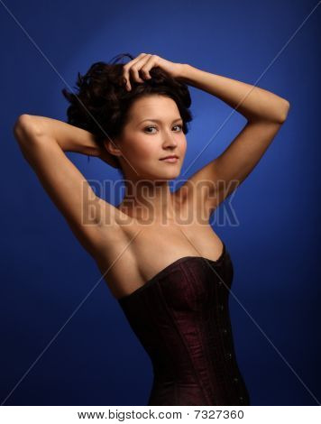 Beautiful Girl In A Corset