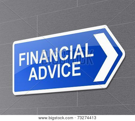 Financial Advice Concept.