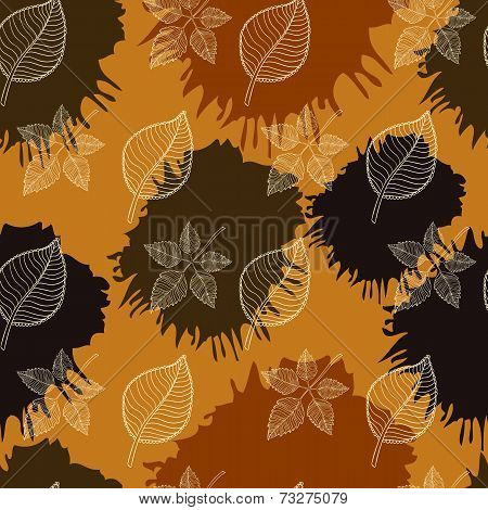 Autumn Seamless Pattern:abstract Leaf