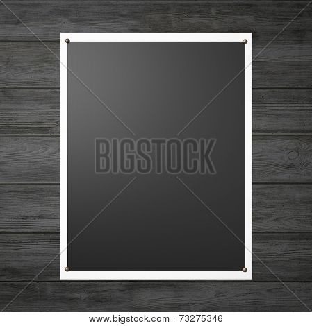 Black Poster On The Wooden Wall