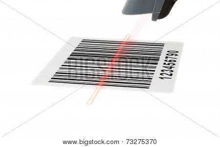 Scanner Scans Bar Code With Laser