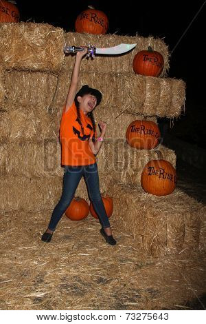 LOS ANGELES - OCT 4:  Chloe Noelle at the RISE of the Jack O'Lanterns at Descanso Gardens on October 4, 2014 in La Canada Flintridge, CA