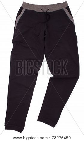 Sport sweatpants isolated on a white background