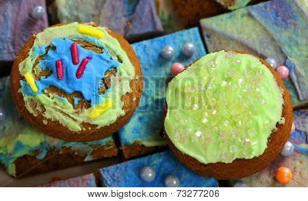 Colourful Cookies And Cakes