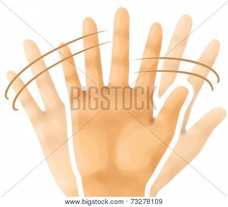 hand sign emotion bye