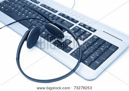 Customer Service Concept With Keyboard And Headset