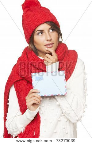 Christmas, winter mail concept.