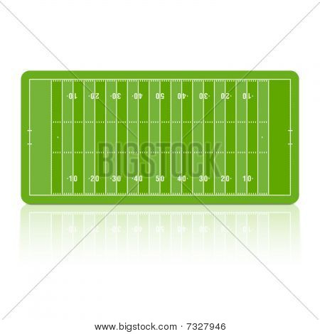 Football field. Vector.