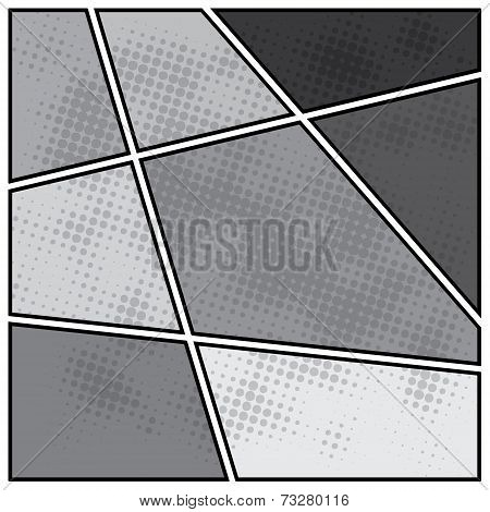 Comics popart style blank layout template background