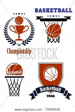Basketball sporting symbols or logos
