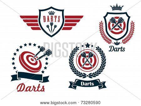 Darts heraldry emblems