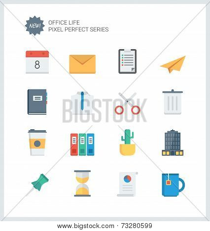 Pixel Perfect Office Tools Flat Icons