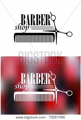 Retro barber shop icon
