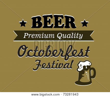 Oktoberfest beer poster design