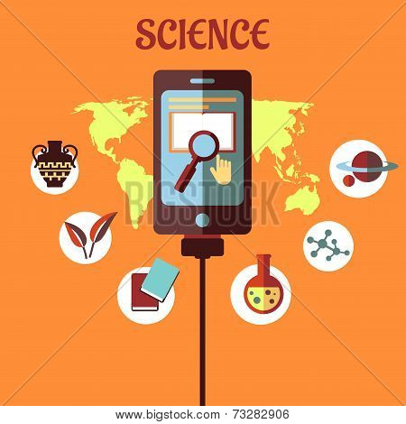Science infographic flat design
