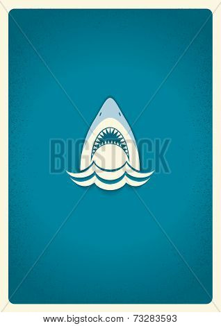 Shark Jaws Logo.vector Blue Symbol Illustration