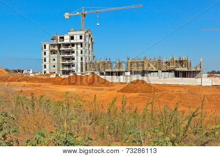 Construction of a residential area