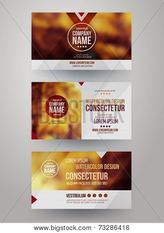 business cards with blurred abstract background