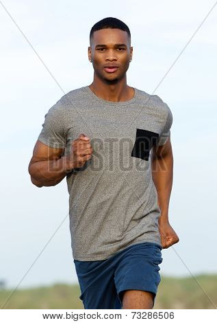 Handsome Young Man Keeping Fit