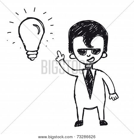 Businessman with ideas