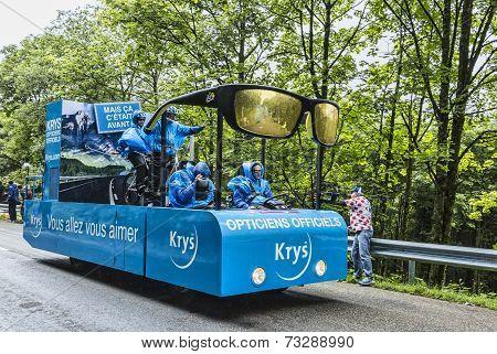 Krys Vehicle On The Road Of Le Tour De France