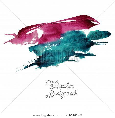 abstract hand drawn watercolor background, aquarelle colorful te