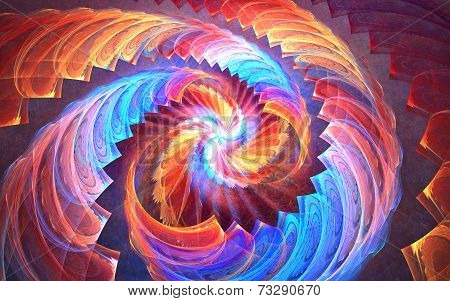 Fractal swirl background