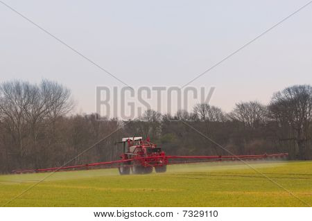Crop Spraying In Springtime
