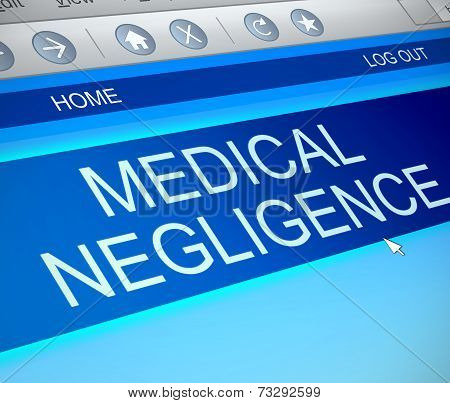 Medical Negligence Concept.