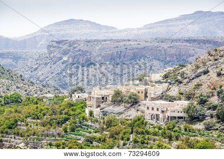 Oman Village On Saiq Plateau
