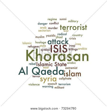 Khorasan word cloud