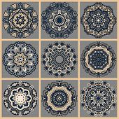 picture of doilies  - Circle lace ornament - JPG
