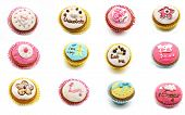 image of eat me  - Mural of cupcakes on a white background - JPG