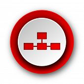 pic of cisco  - database red modern web icon on white background  - JPG