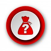 foto of riddles  - riddle red modern web icon on white background  - JPG