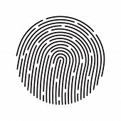 image of fingerprint  - Fingerprint identification system - JPG