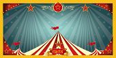 stock photo of funfair  - fun circus banner - JPG