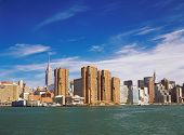 picture of empire state building  - View of Manhattan with Empire State Building and Chrysler Building from East River - JPG