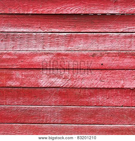 Texture red wooden boards