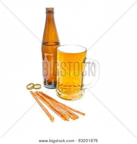 Fish Snack And Mug Of Beer