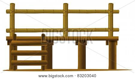 Illustration of a wooden platform